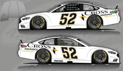 The #52 Cross Insurance Ford.  (KSR Rendering)