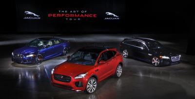 The 2018 Jaguar lineup.  (Jaguar Photo)