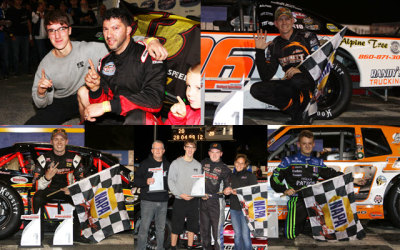 The winners of the 9/22 races at Stafford Motor Speedway.  (SMS Photo)