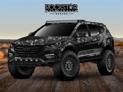 The Hyundai Rockstar Energy Moab Santa Fe Concept.  (Hyundai Photo)
