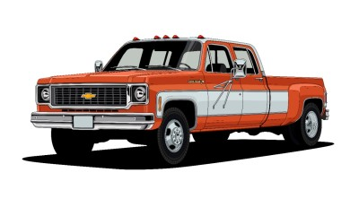 The 1973 Chevrolet C30 One-Ton Dually.  (GM Photo)