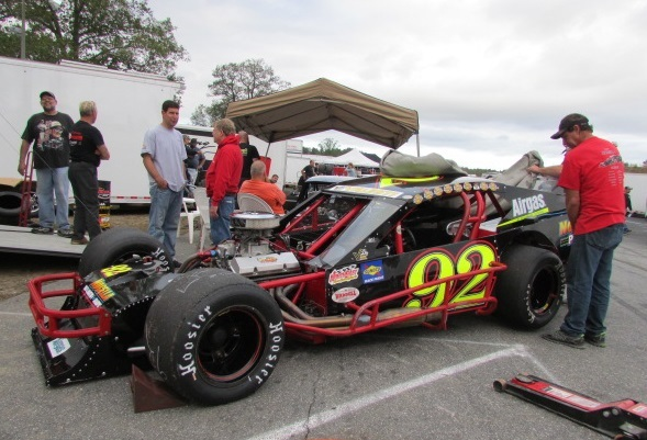 Anthony Nocella's #92 VMRS Modified at Thompson.  (Mike Twist Photo)