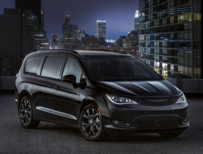 The airport limo is actually a black Chrysler minivan.  (Mike Twist Photo)