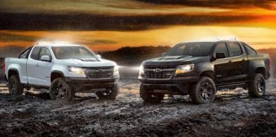 The Col,orado Midnight and Dusk Edition trucks.  (GM Photo)