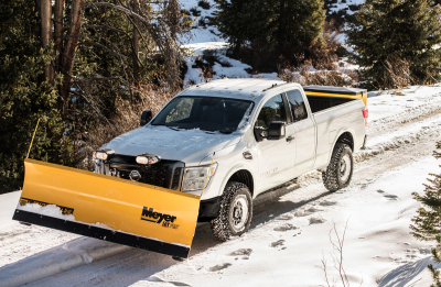 A Nissan Titan gets ready to tackle the snow.  (Nissan Photo)