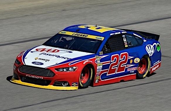 The #22 AAA Ford.  (JoeyLogano.com Photo)
