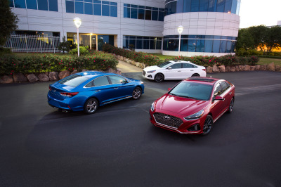 The Hyundai lineup of cars.  (Hyundai Photos)