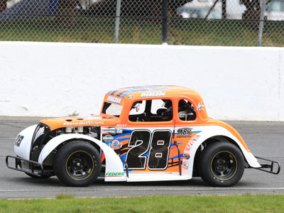 Teddy Hodgdon's #28 Legends car.  (SMS Photo)