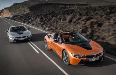The 2019 BMW i8 Coupe and Convertible.  (BMW Photo)