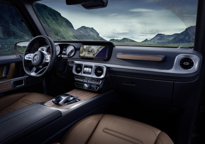 The interior of the new G-Class SUV.  (Merecdes-Benz Photo)