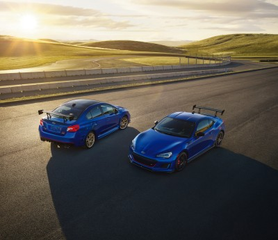 A performance pair of Subarus.  (Subaru Photo)