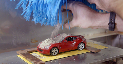 Nissan's micro-sized car wash.  (Nissan Photo)