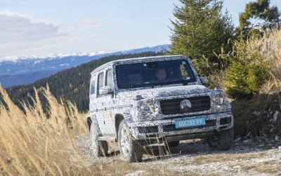 A Mercedes-Benz G Wagon being tested.  (MB USA Photo)