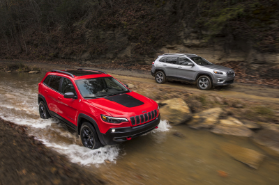 A pair of 2019 Jeep Cherokees.  (FCA Photo)