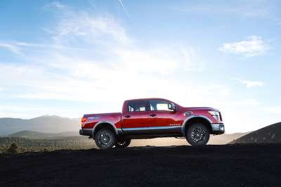 The lifted 2018 Nissan Titan.  (Nissan Photo)