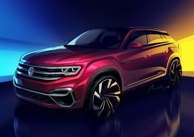 A preview of the five-passenger VW Atlas.  (VW Photo)