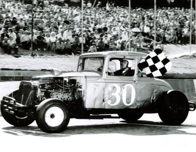 Harold Hanaford after winning the 1962 Milk Bowl.  (Thunder Road Photo)