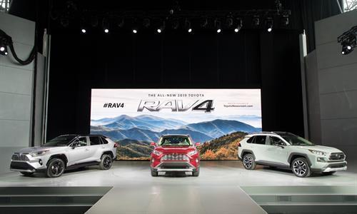The 2019 lineup of Toyota RAV4s  (Toyota Photo)