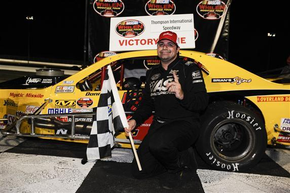 Donny Lia in victory lane with the Mystic Missile.  (NASCAR Photo)