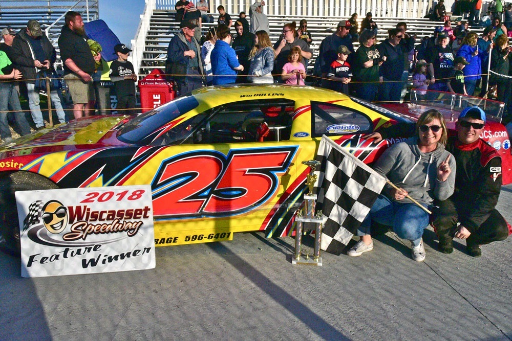 Will Collins won the Late Model feature on opening day at Wiscasset.  (Peter Taylor Photo)