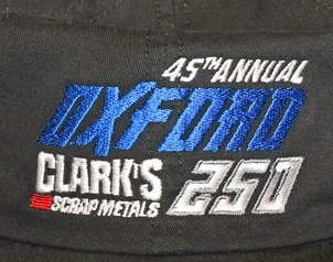 The official hat of the 45th Annual Oxford 250.  (OPS Photo)