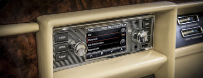 Modern tech can now have a home in a classic.  (Jaguar Land Rover Photo)
