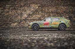 The Aston Martin DBX SUV in testing.  (Aston Martin Photo)