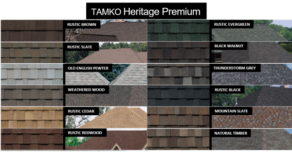 Tamko Heritage Premium Shingles