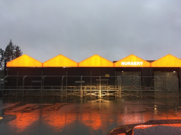 Home Depot Awnings Lit