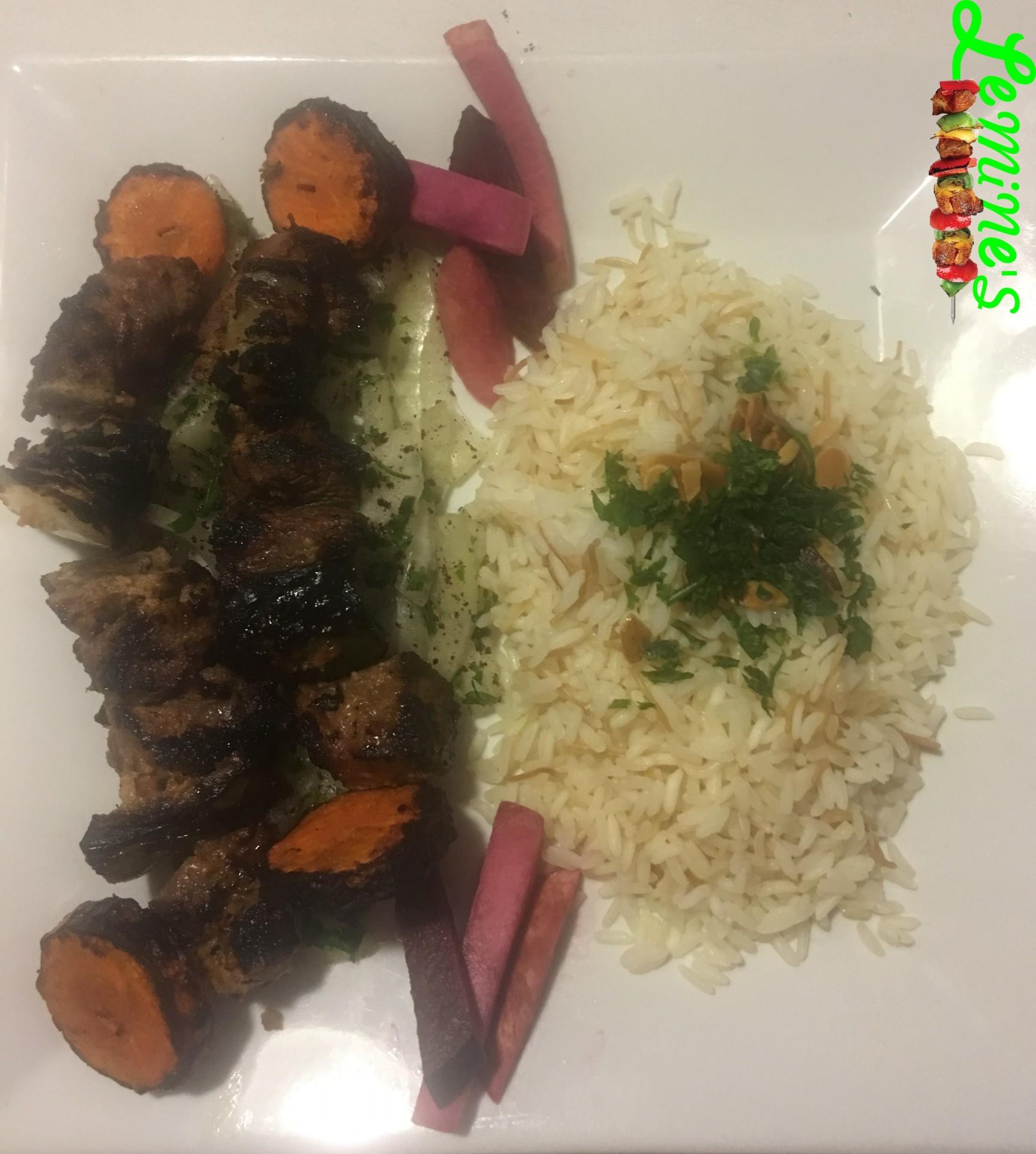 Shish Kabab with Rice