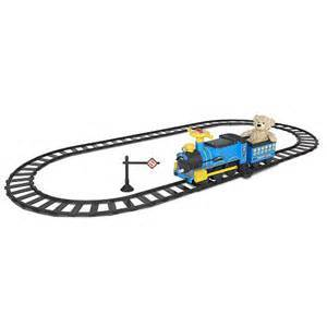 ride-on train set with two trains - $30