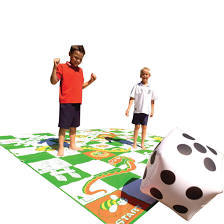 snakes and ladder garden game - $20