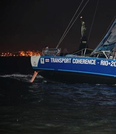Jorge Madden in the Atlantic Cup arriving to Manhattan, NY