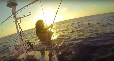 Doublehanded Maxi sailing and fishing