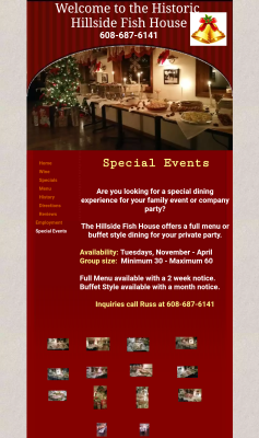 The Hillside Fish House Special Events Page