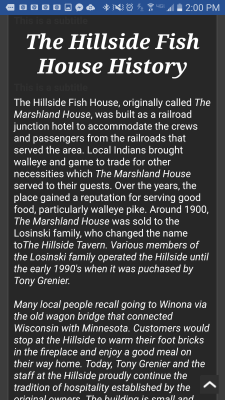 The Hillside Fish House Mobile History,  check it out on your smartphone.