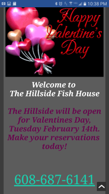 The Hillside Fish House Mobile Main Page Check it out on your smartphone