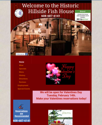 The Hillside Fish House Main Page