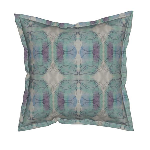 Cushion featuring 'cream jug' design by Rita Summers