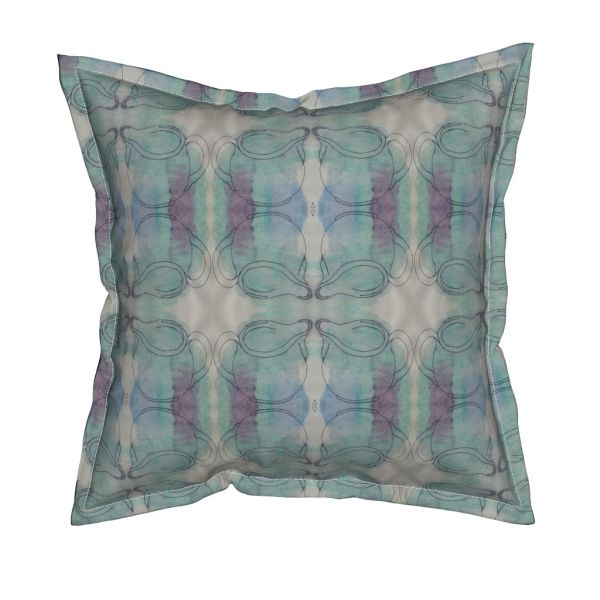 Cushion featuring 'cream jug' design by Rita Summers