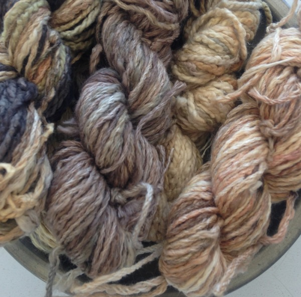 Eco dyed yarns by Rita Summers