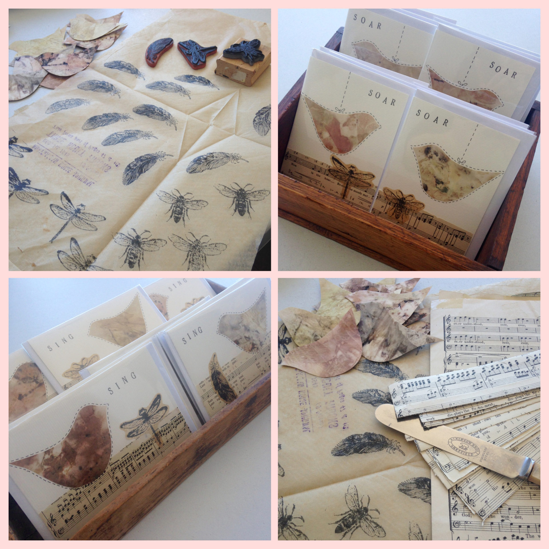 Sing and soar greeting cards preparation - Rita Summers