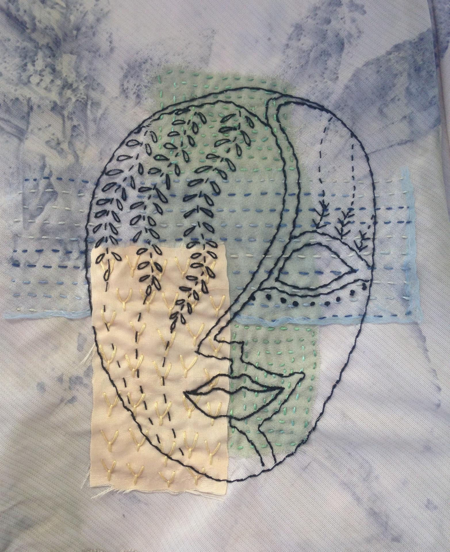 Stitched mask design - by Rita Summers