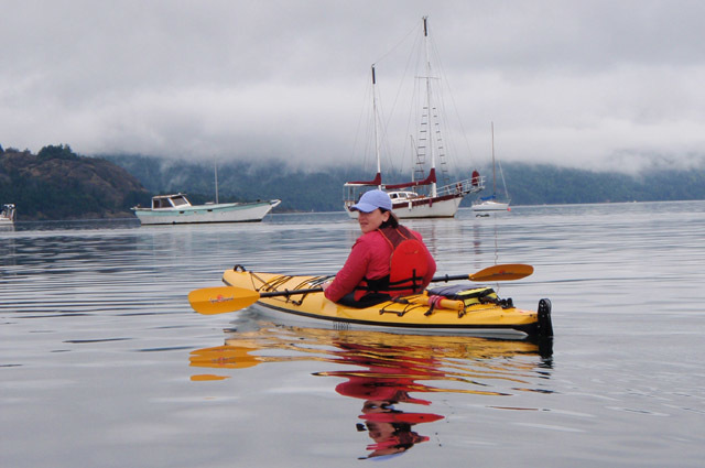 Kayaking in Cowichan Bay