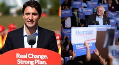 "Alt=""Trudeau and Sanders"""