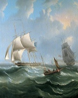 "alt=""Ship on stormy sea"""