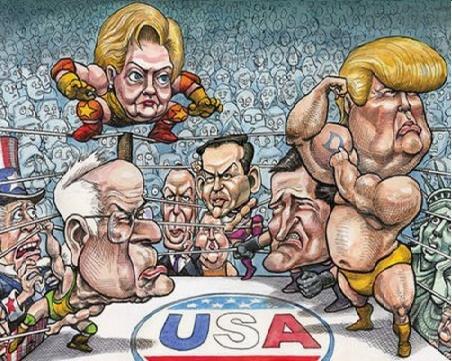 Political Wrestling Match