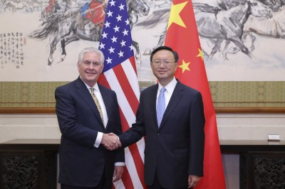 "alt=""Tillerson in China"""