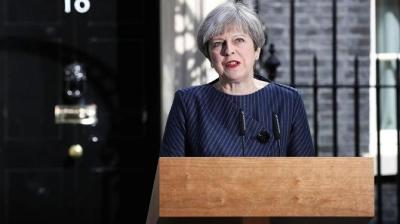 "alt=""UK leader May calls snap election"""