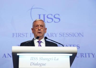 "alt=""Mattis presses China on North Korea, South China Sea"""